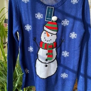 Blue Snowman Holiday Sweater